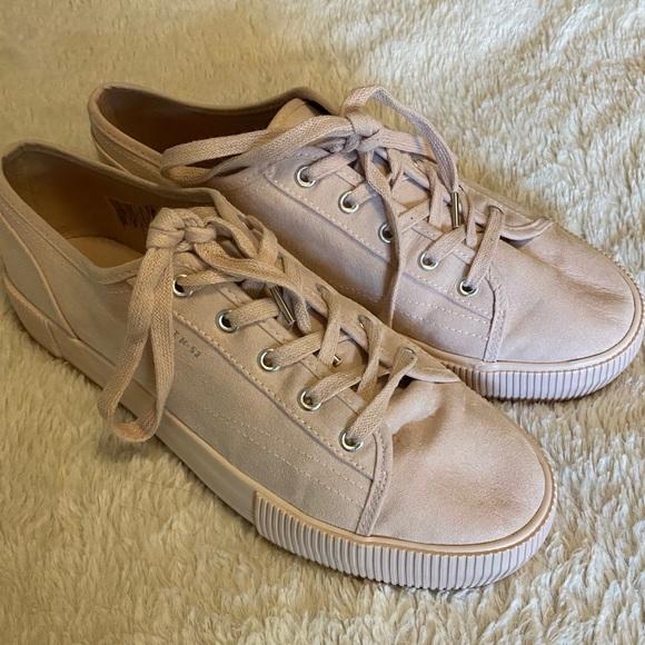 H\u0026M Shoes | Soft Pink Platform Tennis
